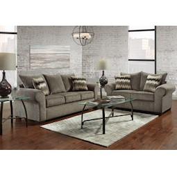 Camero Pewter 2 Pc Living Room Set