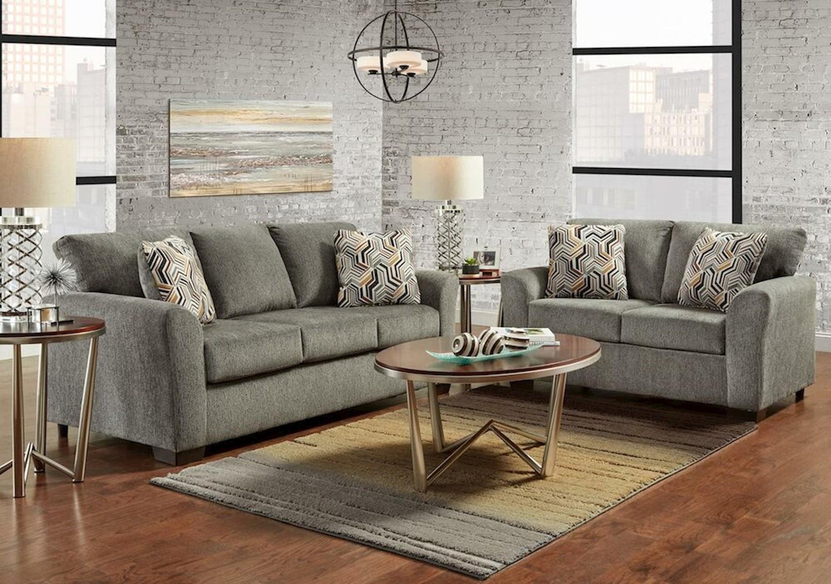 Lacks Cleburn Gray 2 Pc Living Room Set, Gray Living Rooms