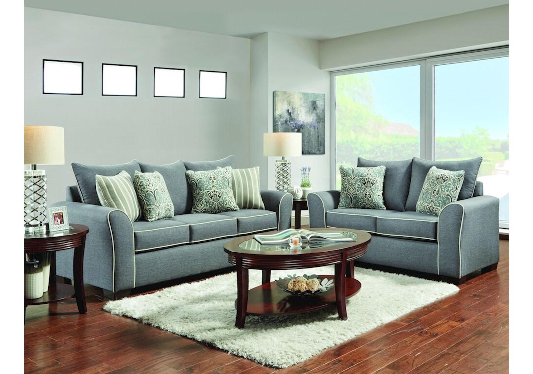 Lacks | Mila Graphite 2-Pc Living Room Set