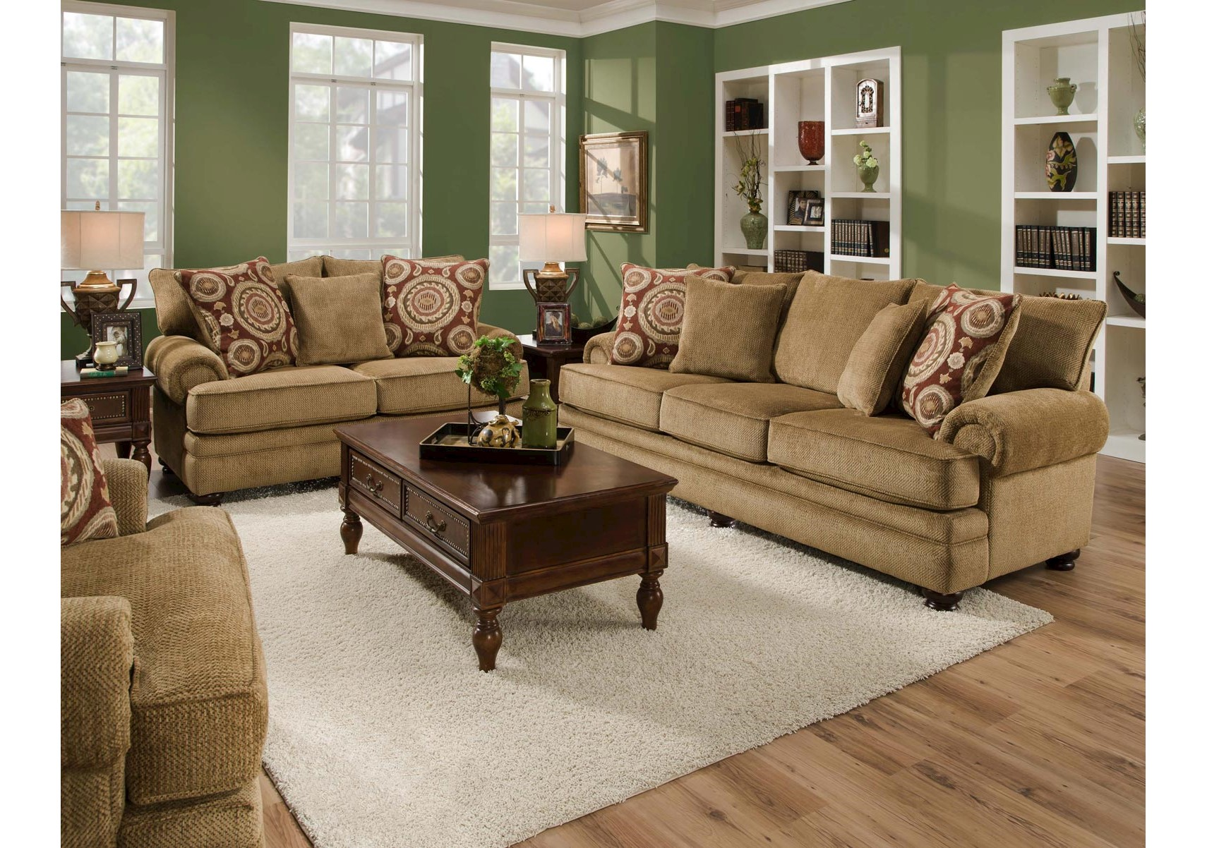 Lacks | Balvenie Tan 2-Pc Living Room Set