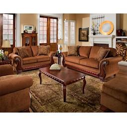 Balvenie Tobacco 2 Pc Living Room Set