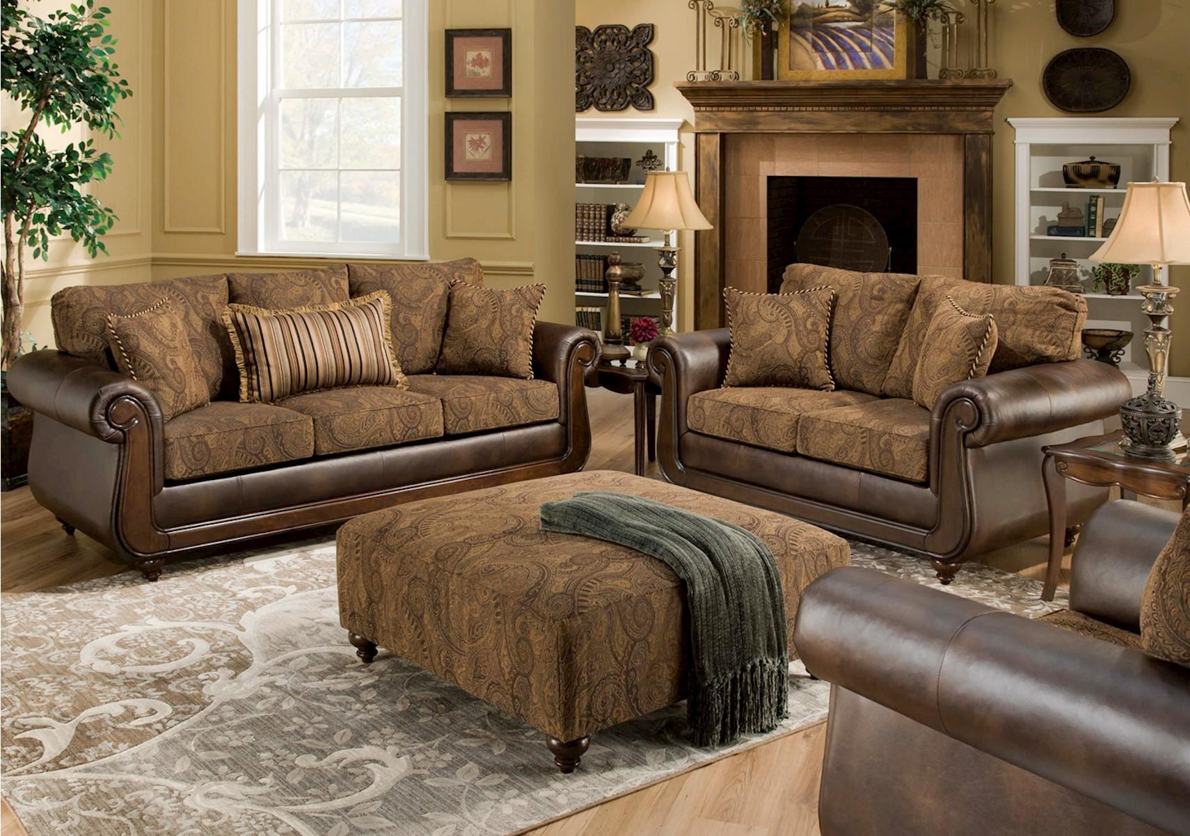 Isle Tobacco 2 Pc Living Room Set Lacks