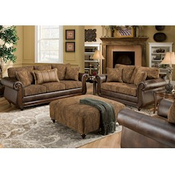 Isle Tobacco 2 Pc Living Room Set