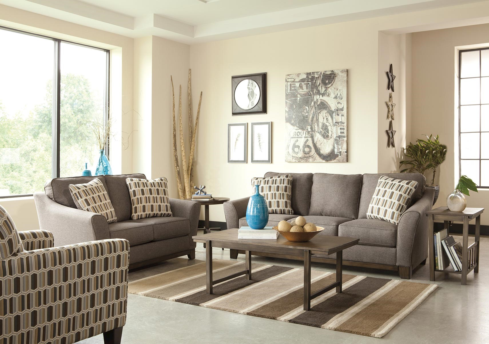 Lacks | Janley Grey 2-Pc Living Room Set