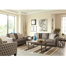 Janley Grey 2 Pc Living Room Set
