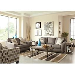 janley grey 2pc living room set