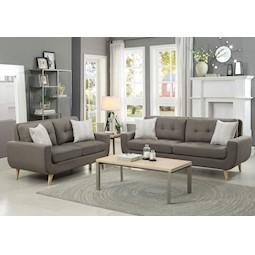 Darrin Gray 2 Pc Living Room Set