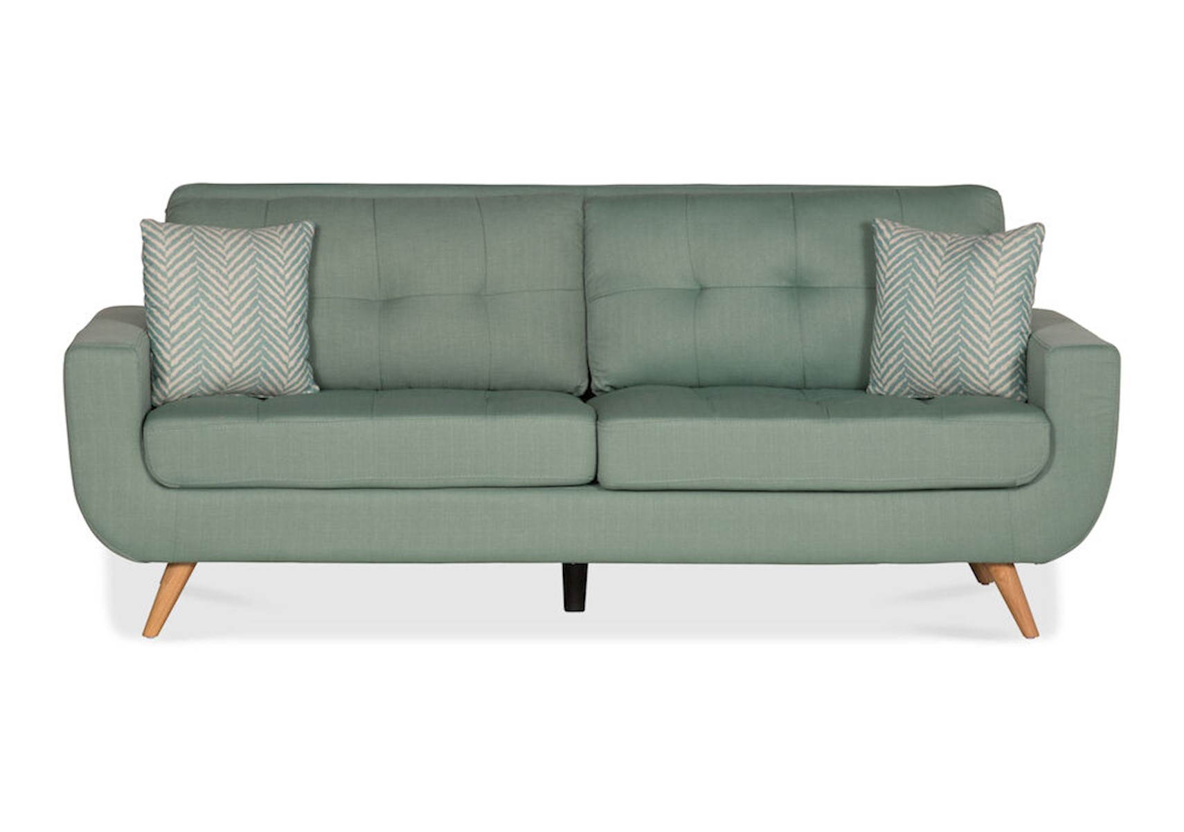 Lacks Darrin Teal Sofa