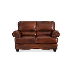 Cowboy Leather Loveseat