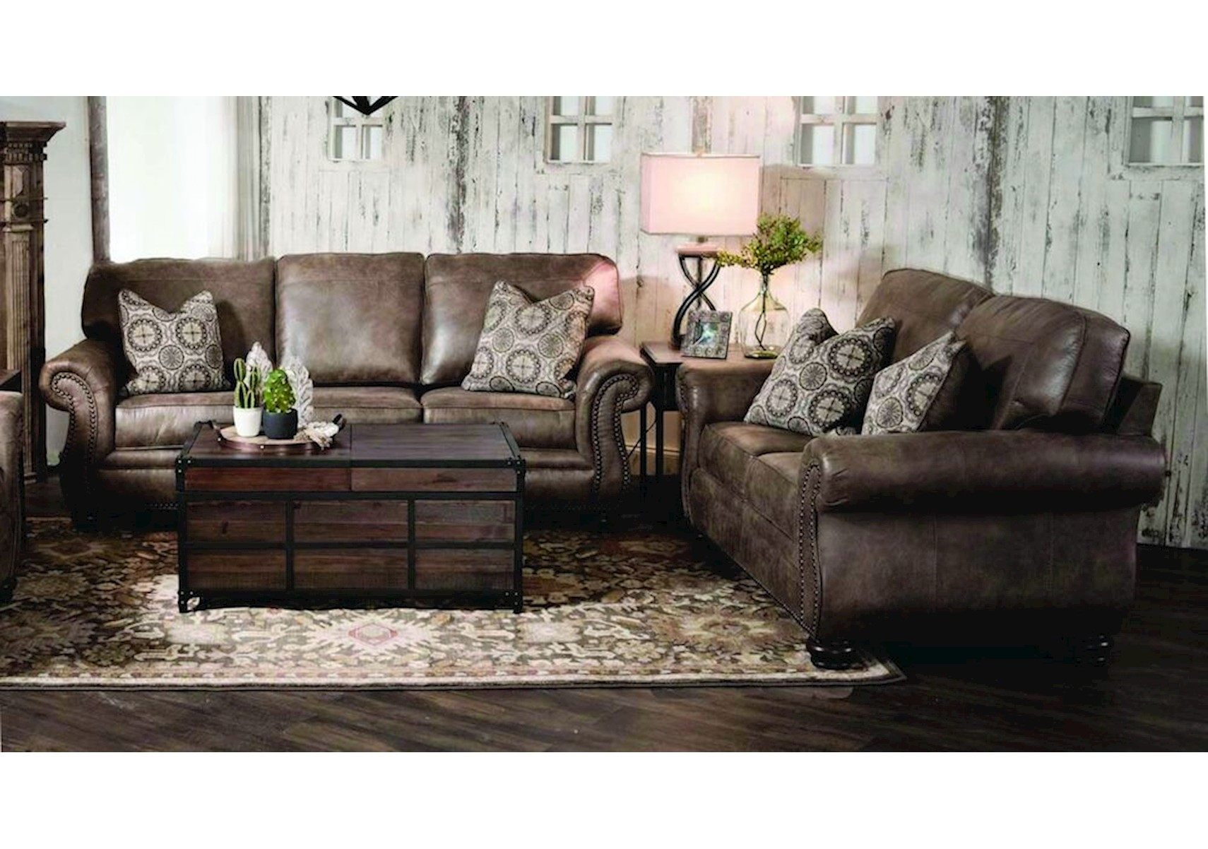Lacks Rustic 2 Pc Living Room Set, Living Room Set