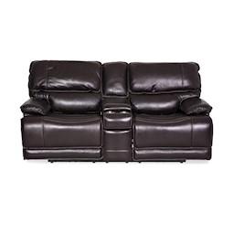 Longhorn Dual Reclining Leather Loveseat