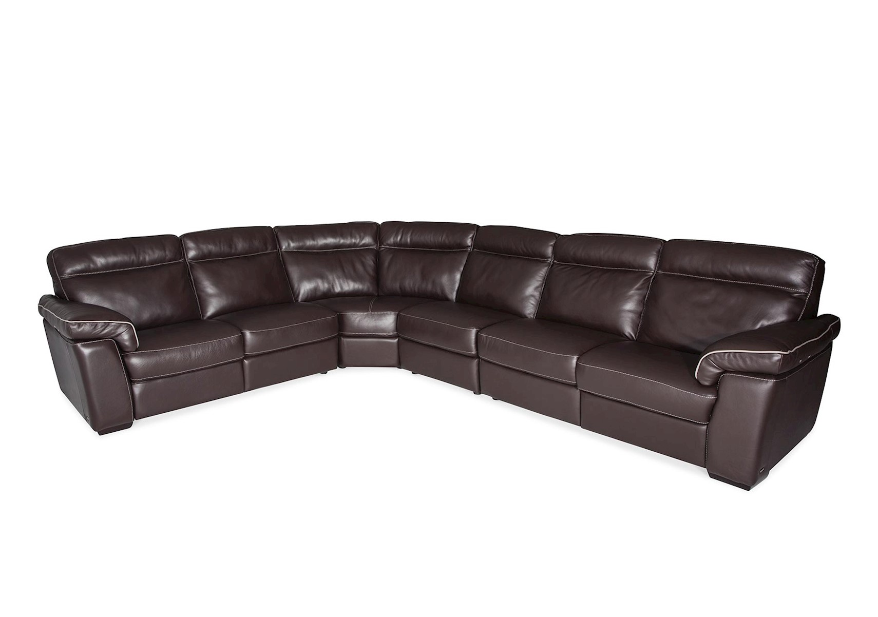 Lucca 3 Pc Leather Sectional