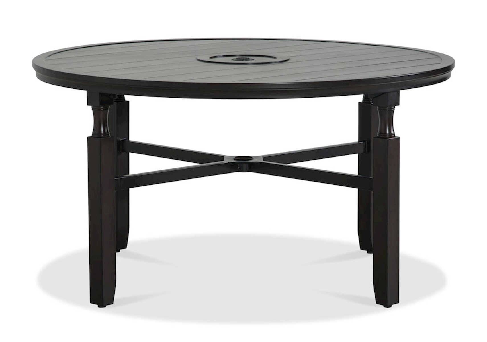 Image of: Lacks Paula Deen River House 54 Outdoor Round Dining Table