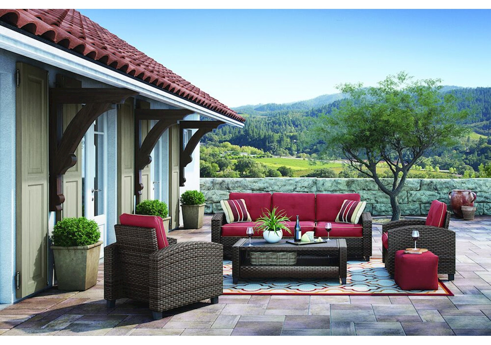 Lacks  Meadowtown 10-Pc Outdoor Living Room Set