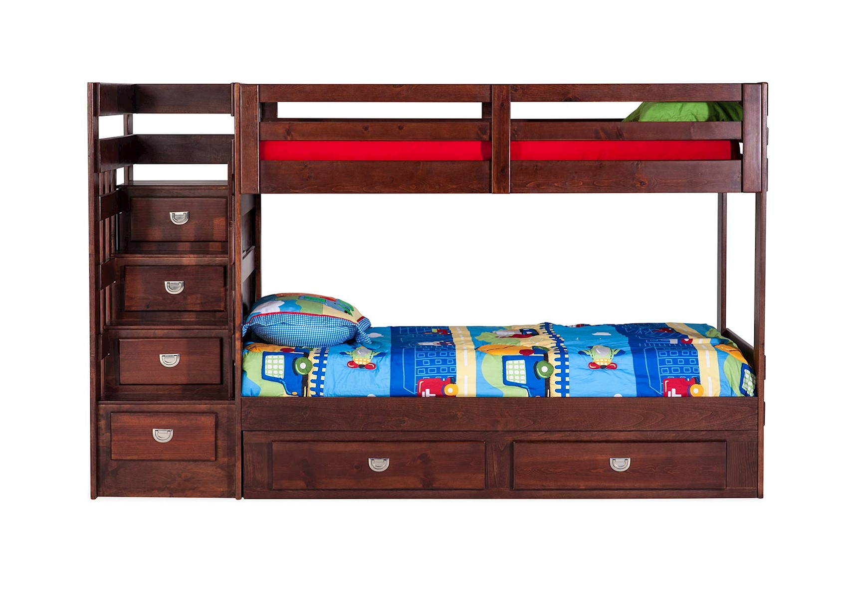 Lacks University Staircase Bunk Bed