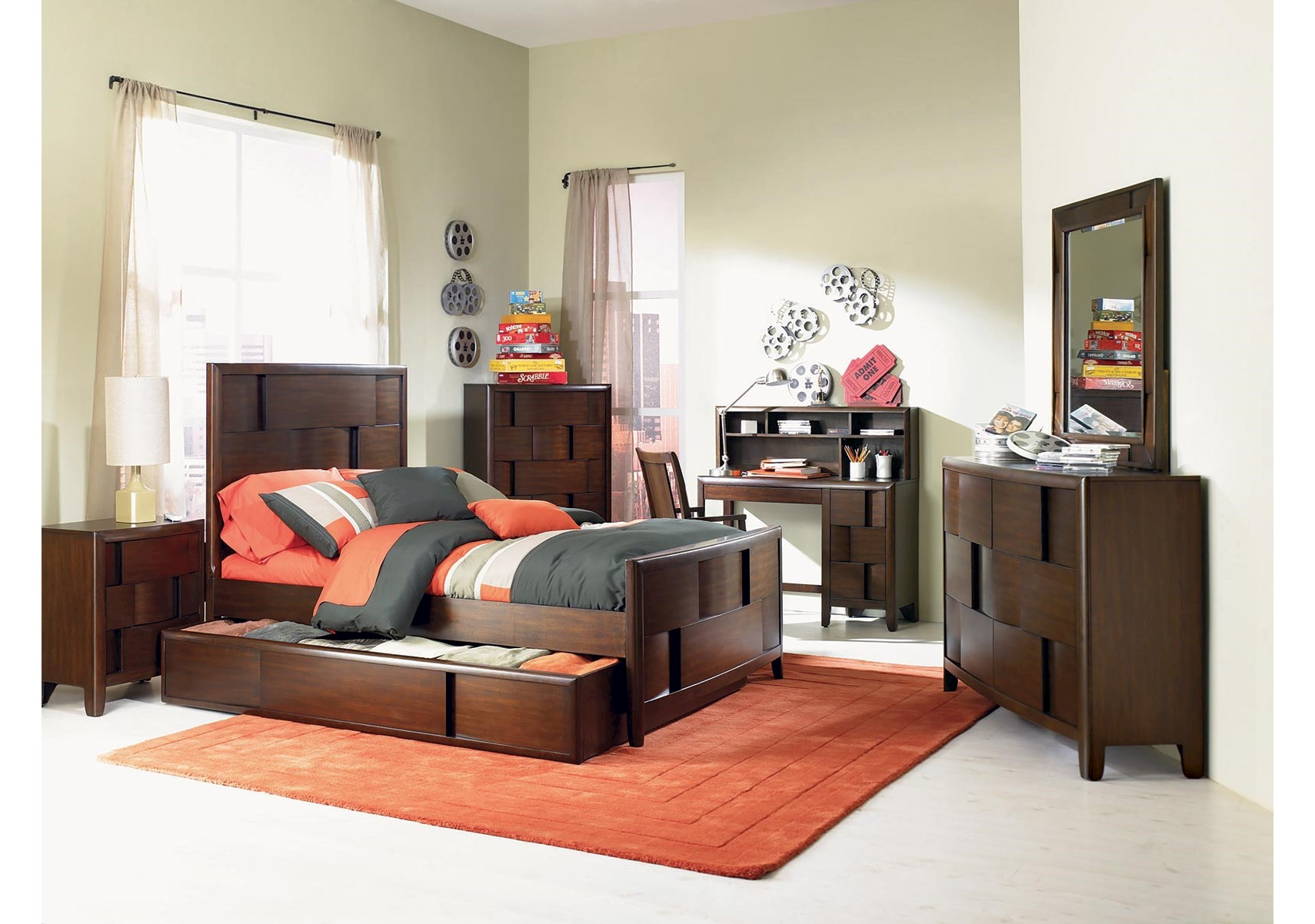 Twilight 4 Pc Twin Kids Bedroom Set