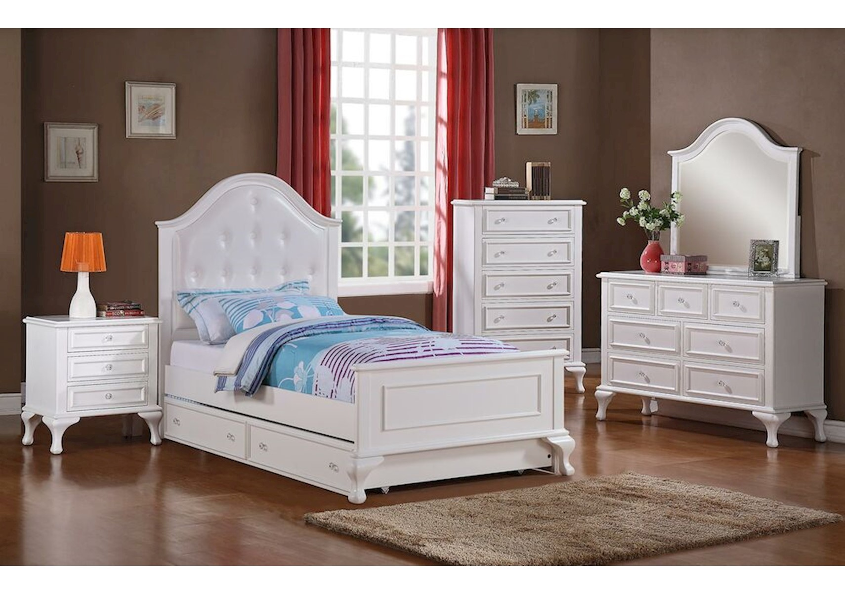Lacks | Jesse 4-Pc Kids Full Bedroom Set