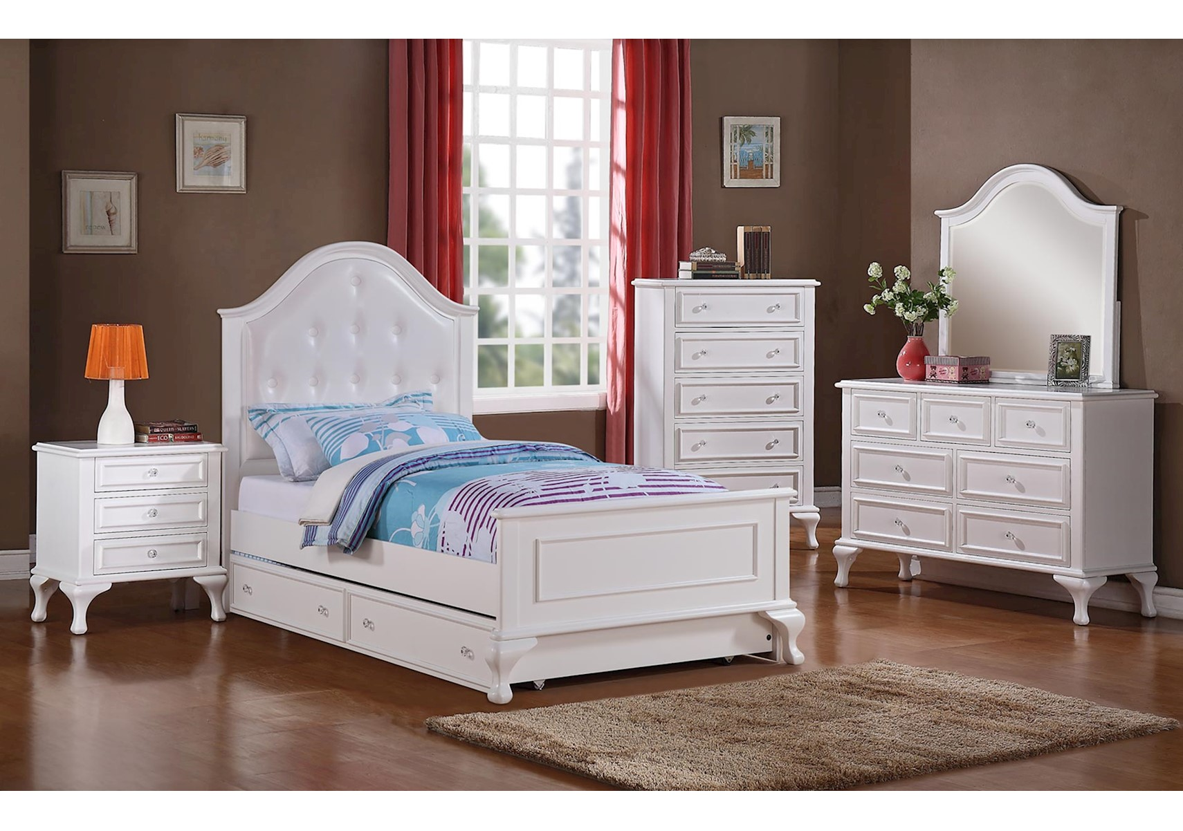 Lacks | Jesse 4-Pc Kids Bedroom Set