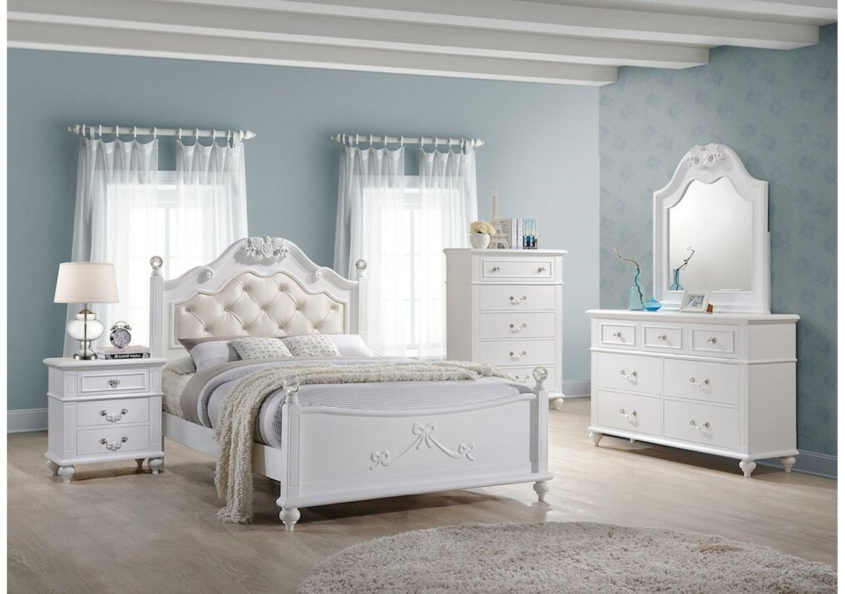 Lacks | Alana 4-Pc Kids Full Bedroom Set