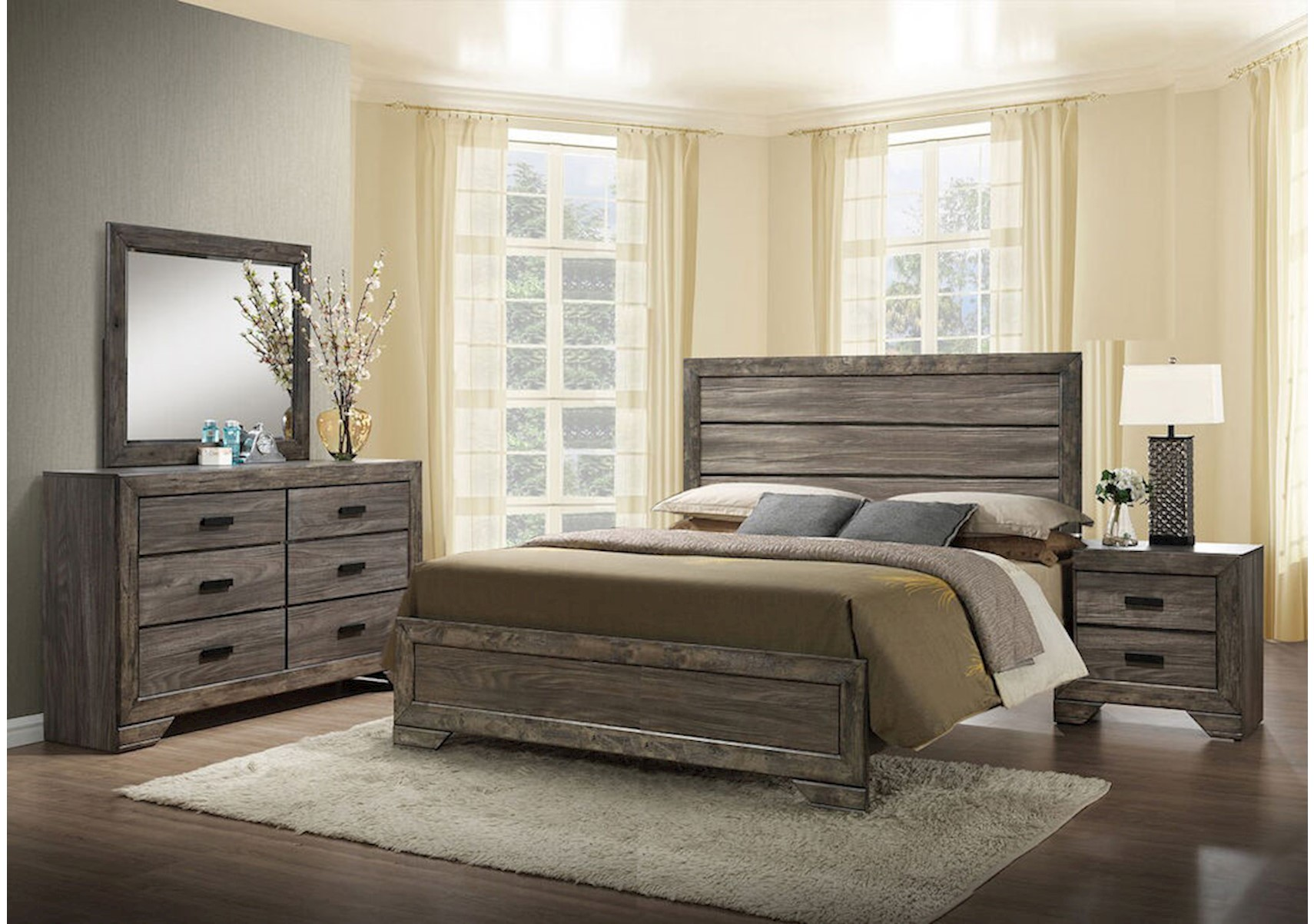 Nathan 4 Pc Queen Bedroom Set