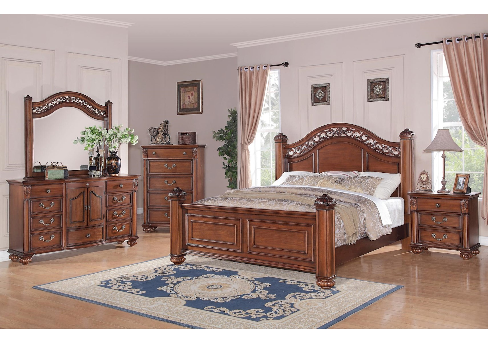 Lacks | Barkley Square 4-Pc Queen Bedroom Set