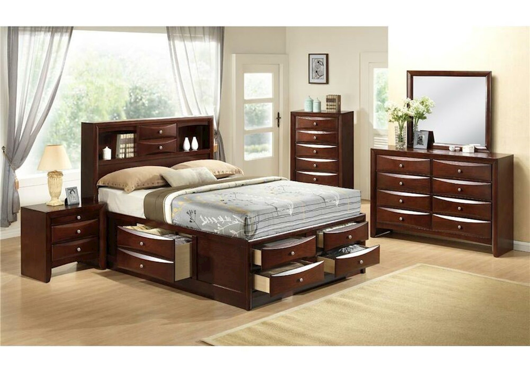 emily bedroom set. X Lacks  Emily 4 Pc Queen Bedroom Set