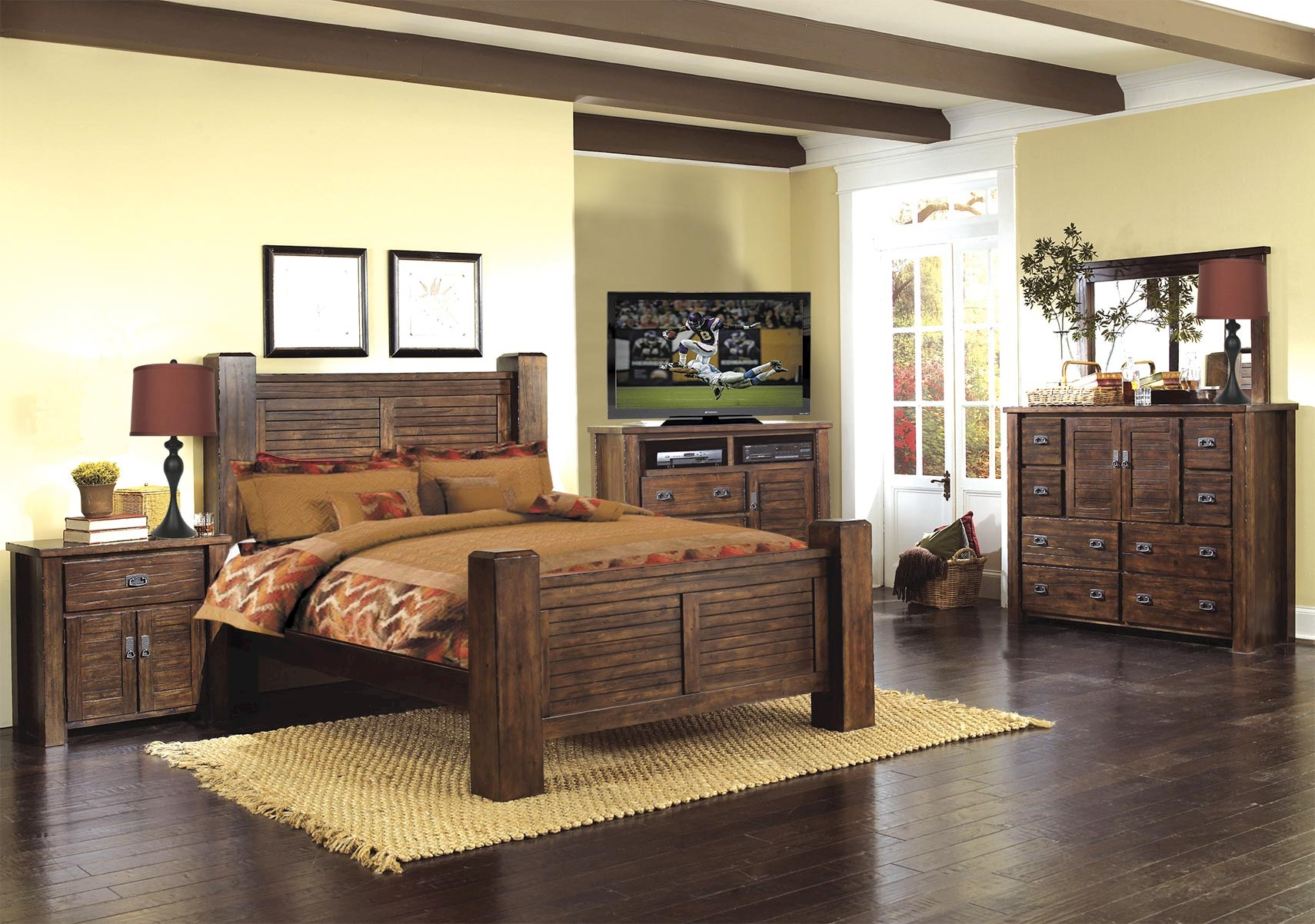 Lacks  Trestlewood 9-Pc Queen Bedroom Set