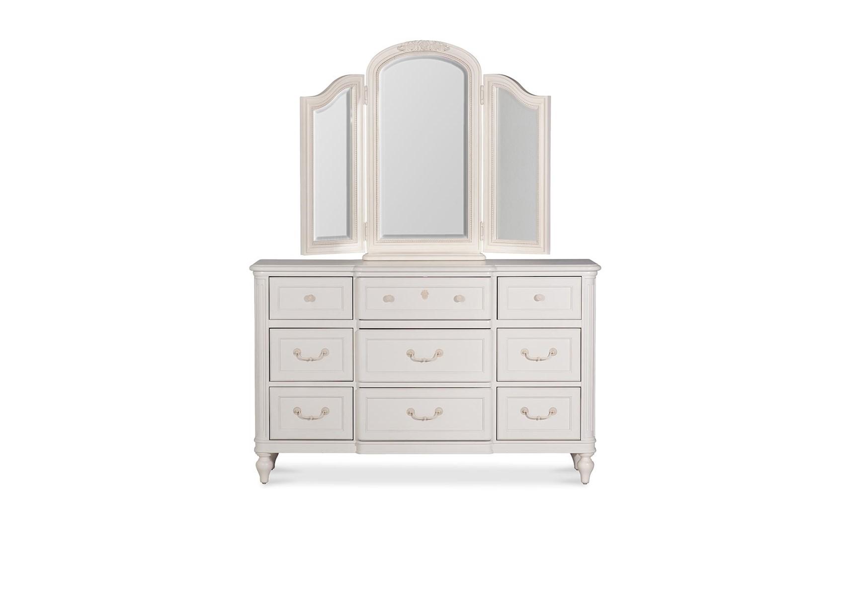 Lacks Gabriella 9 Drawer Dresser And Mirror