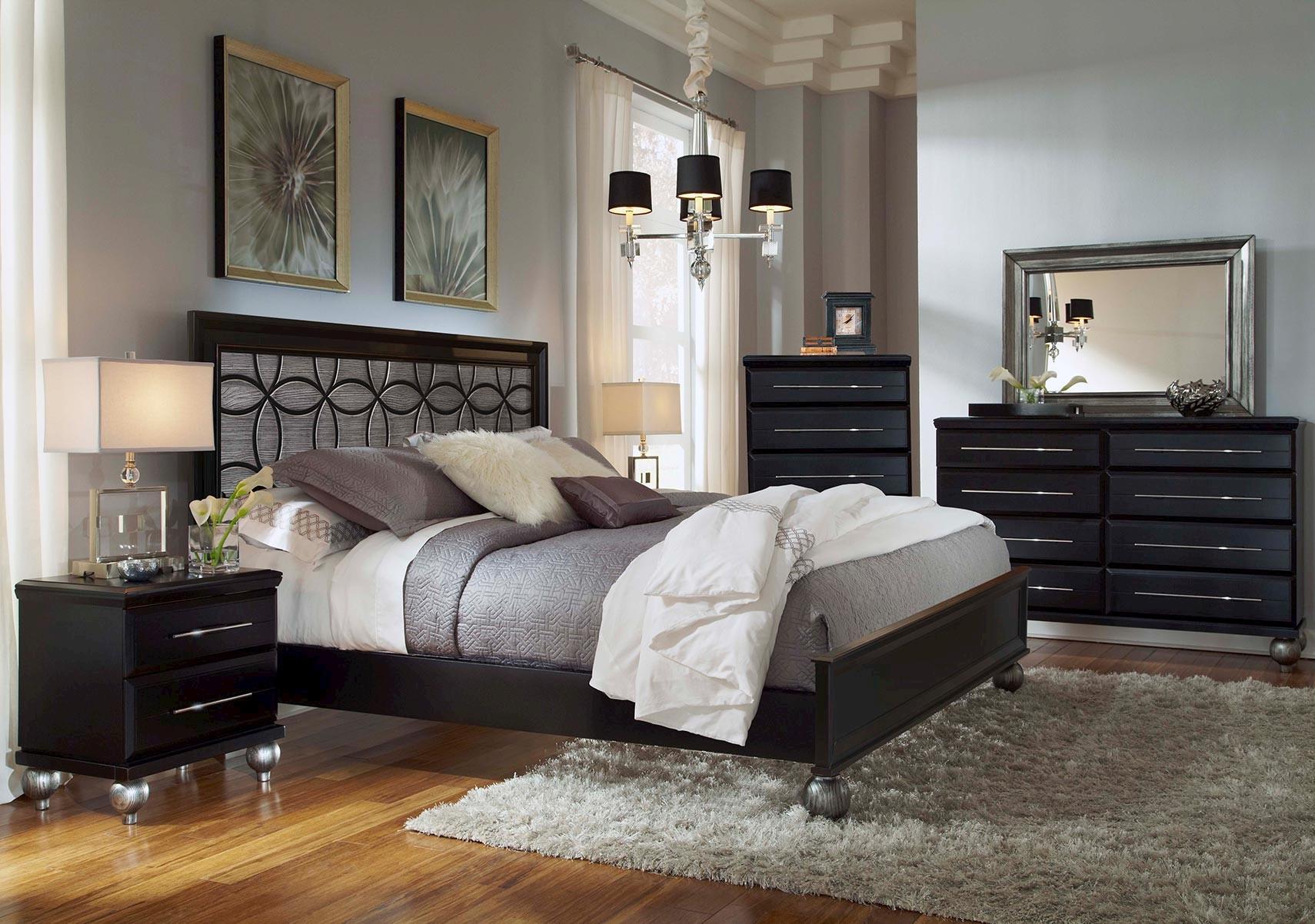 Lacks   Beverly Hills 4-Pc Queen Bedroom Set
