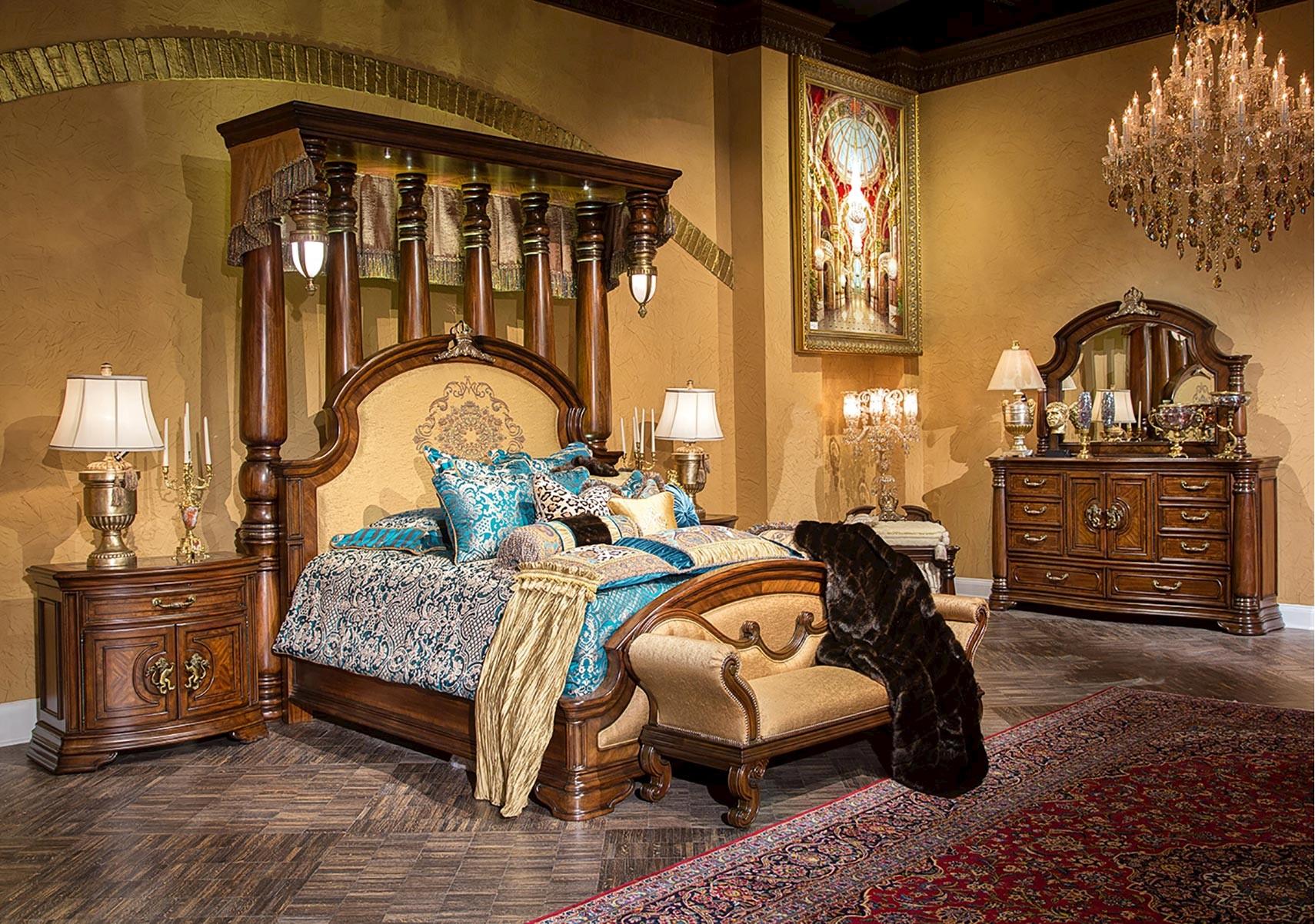 Lacks | Grand Masterpiece 4-Pc King Bedroom Set
