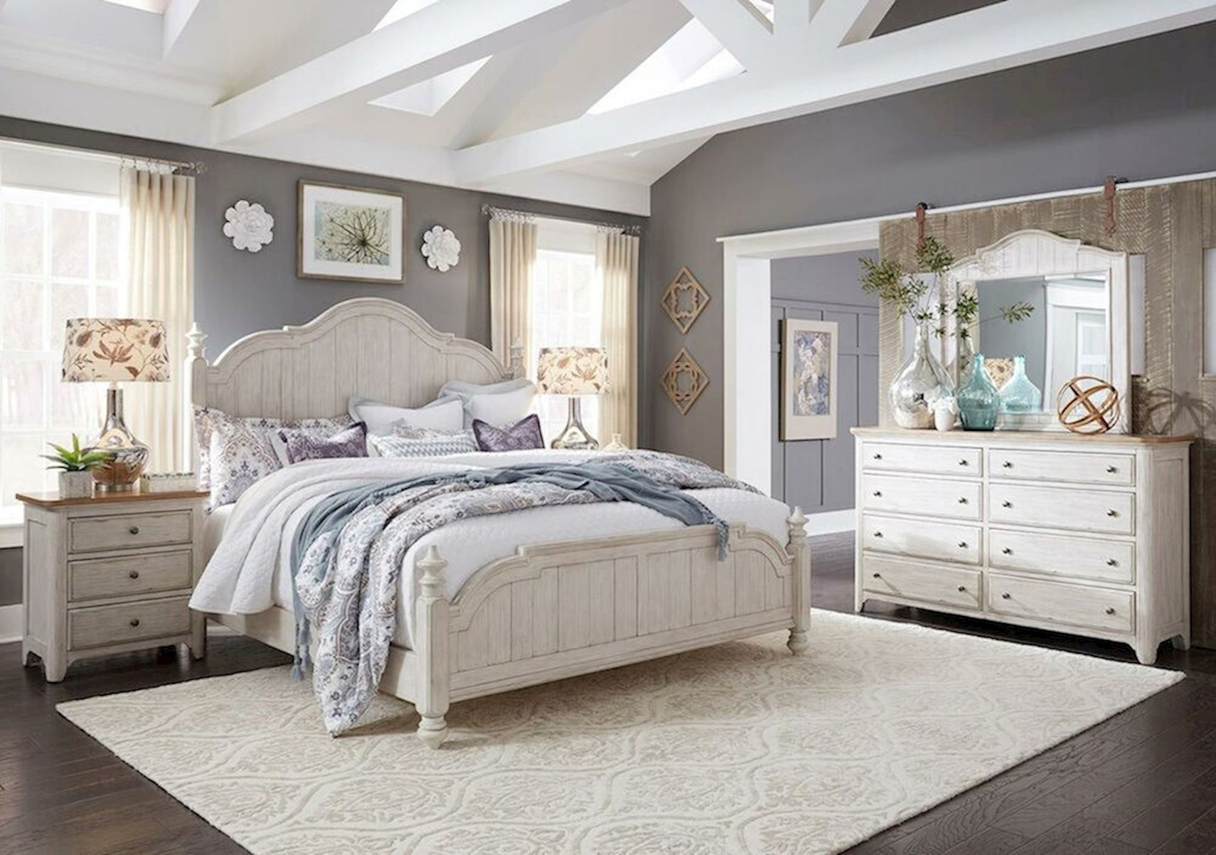 Lacks Farmhouse 4 Pc King Bedroom Set