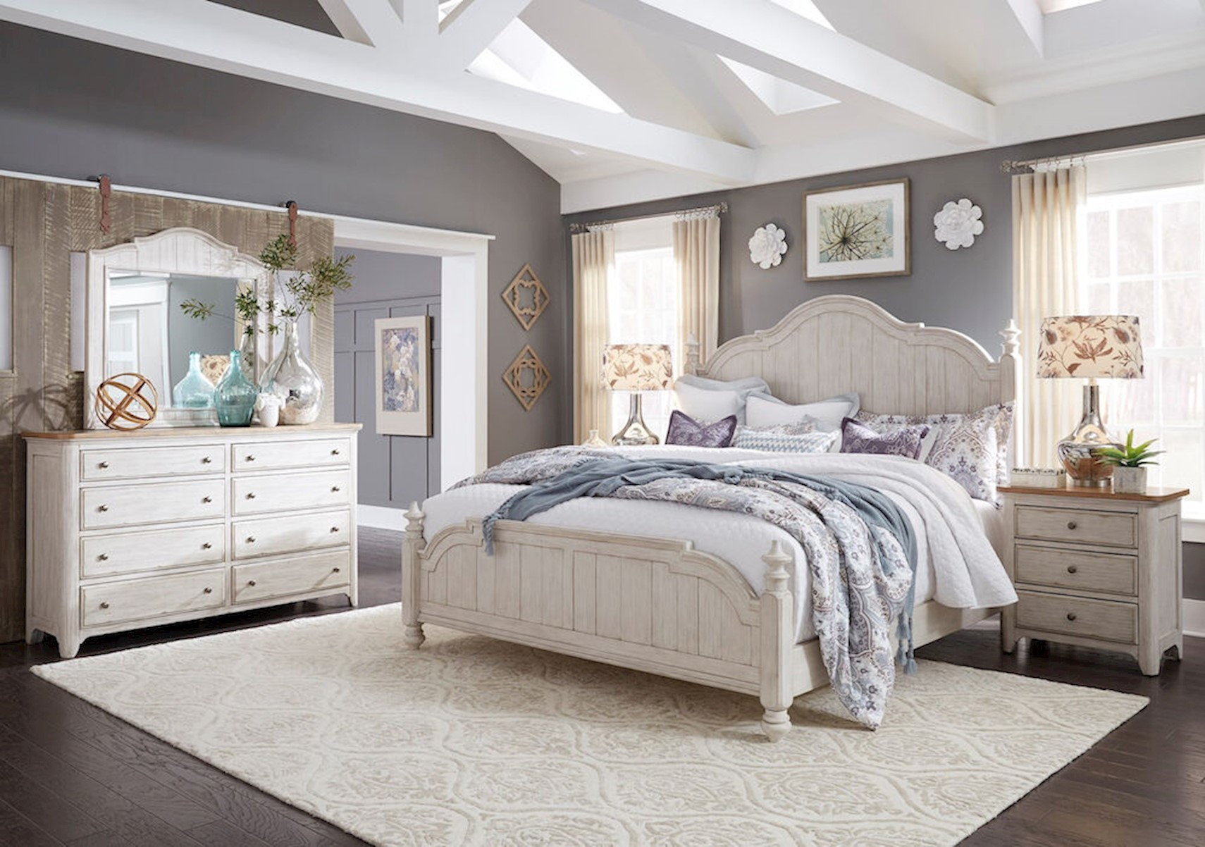 Lacks Farmhouse 4 Pc Queen Bedroom Set
