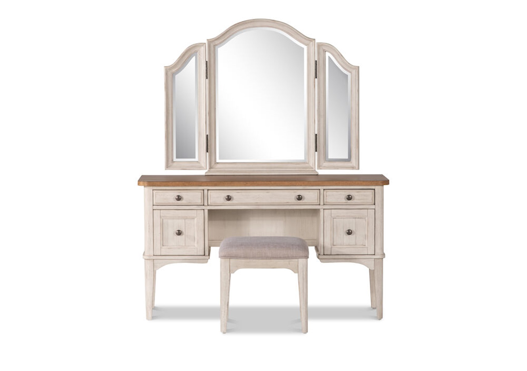 Lacks Farmhouse 3 Pc Vanity Set