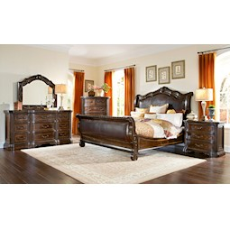 High Quality Valencia 4 Pc Queen Bedroom Set