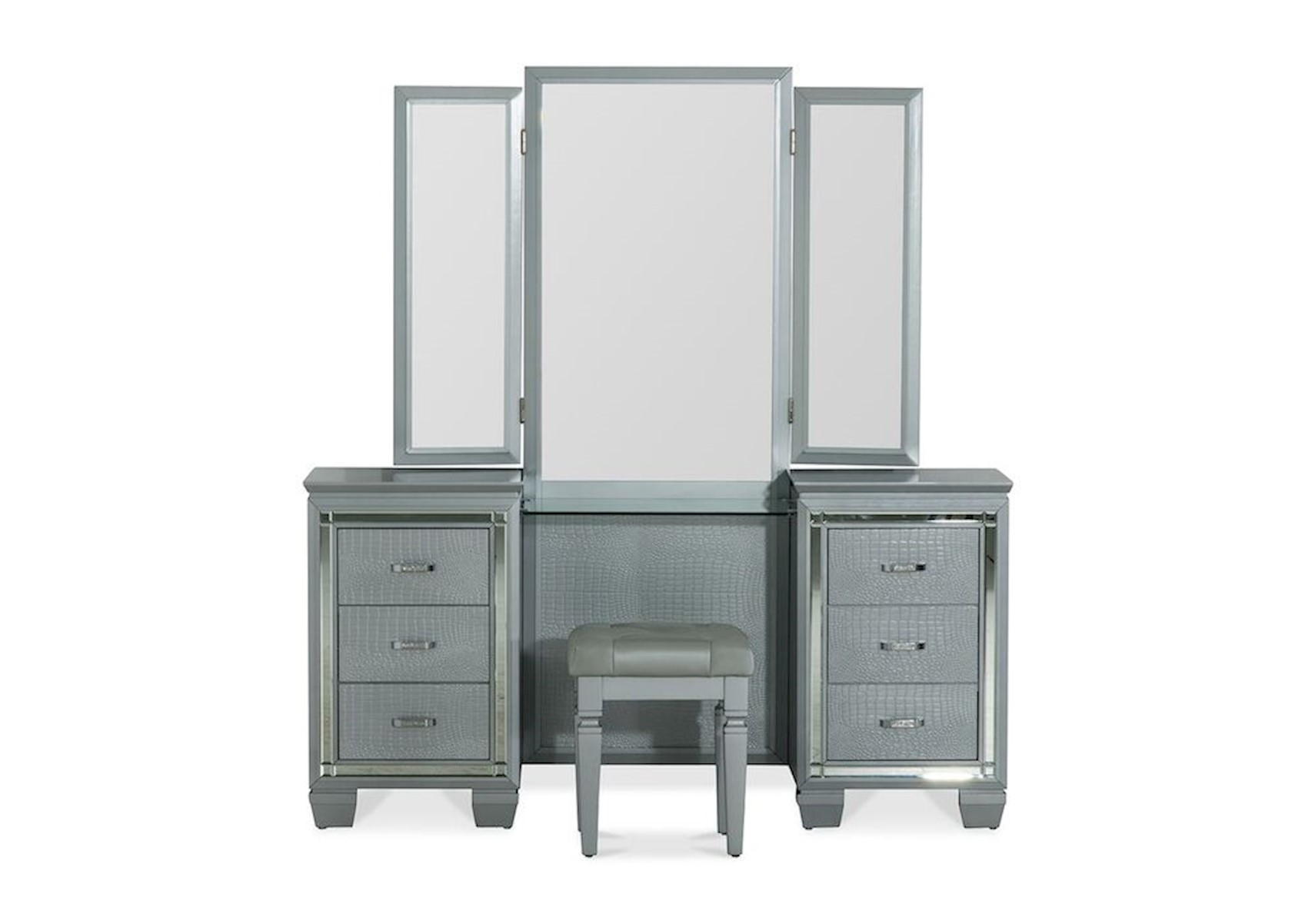 Allura Silver Vanity Set