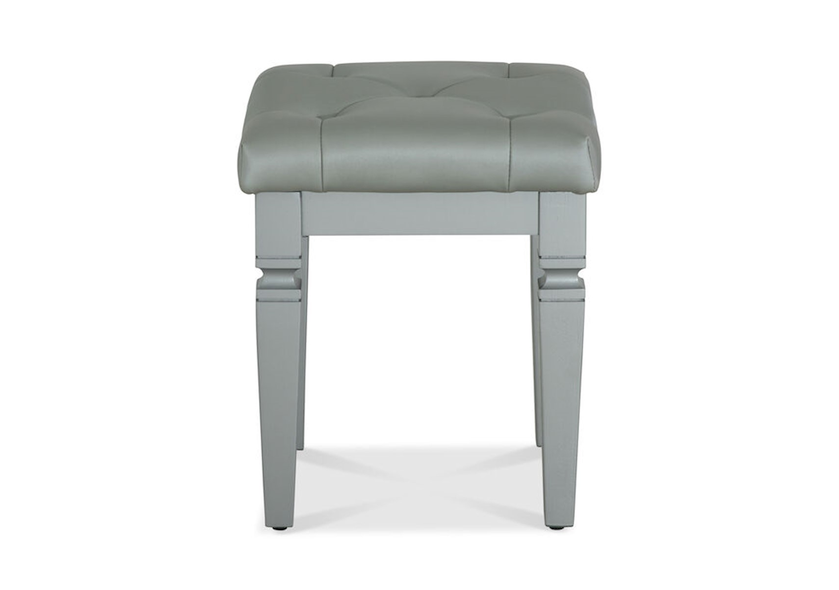 is loading silver image satin vanity nickel itm cushion s seat stool white makeup bedroom counter bath