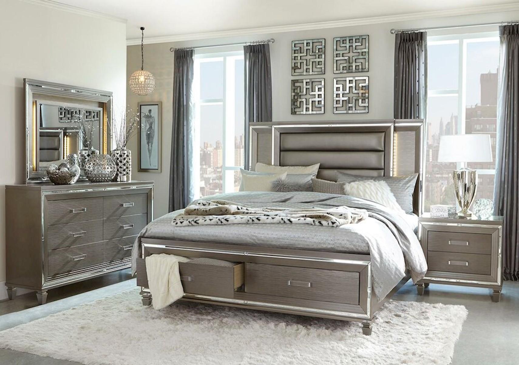 Lacks Athens 4 Pc Queen Bedroom Set