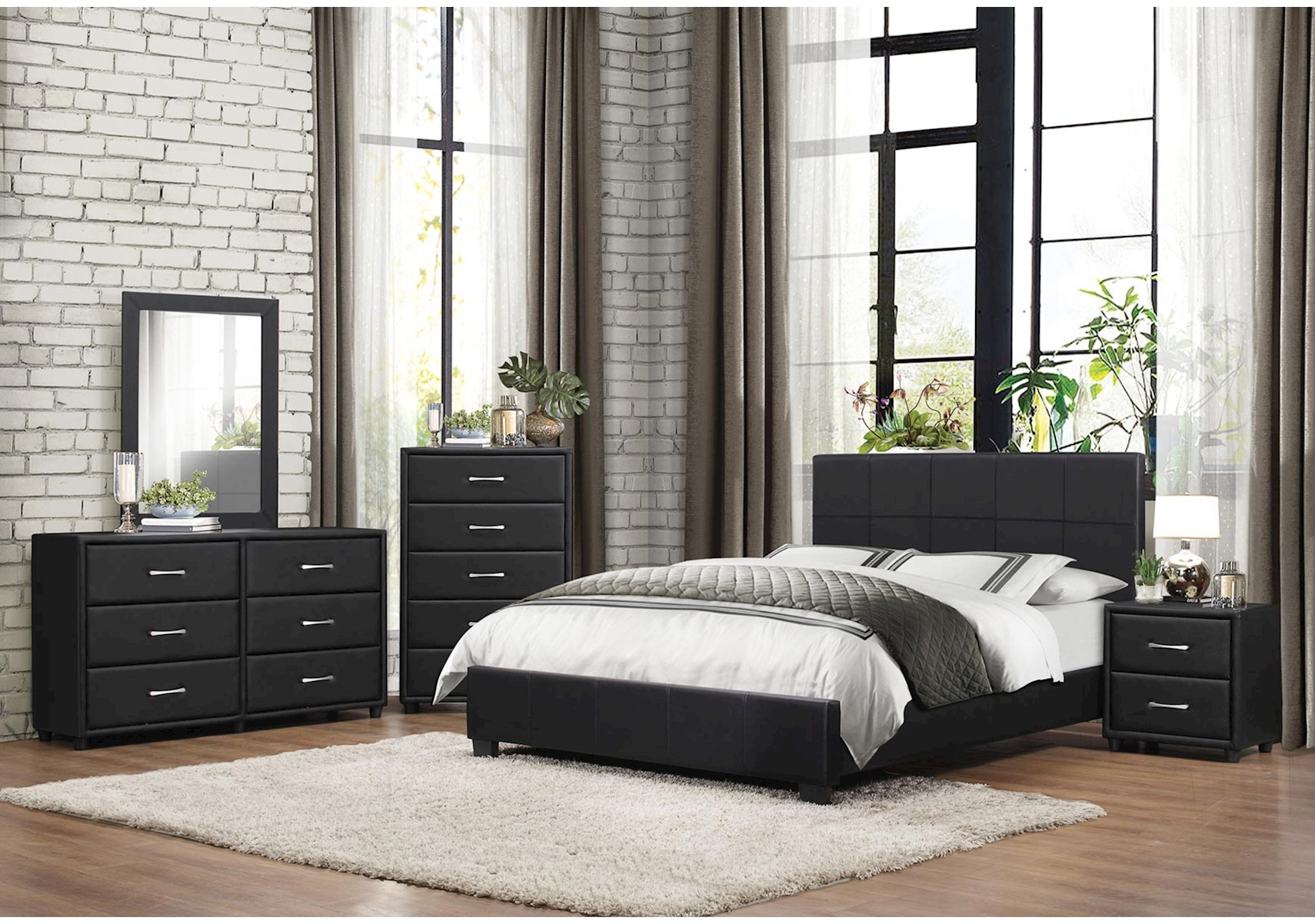 Onyx 4 Pc Queen Bedroom Set