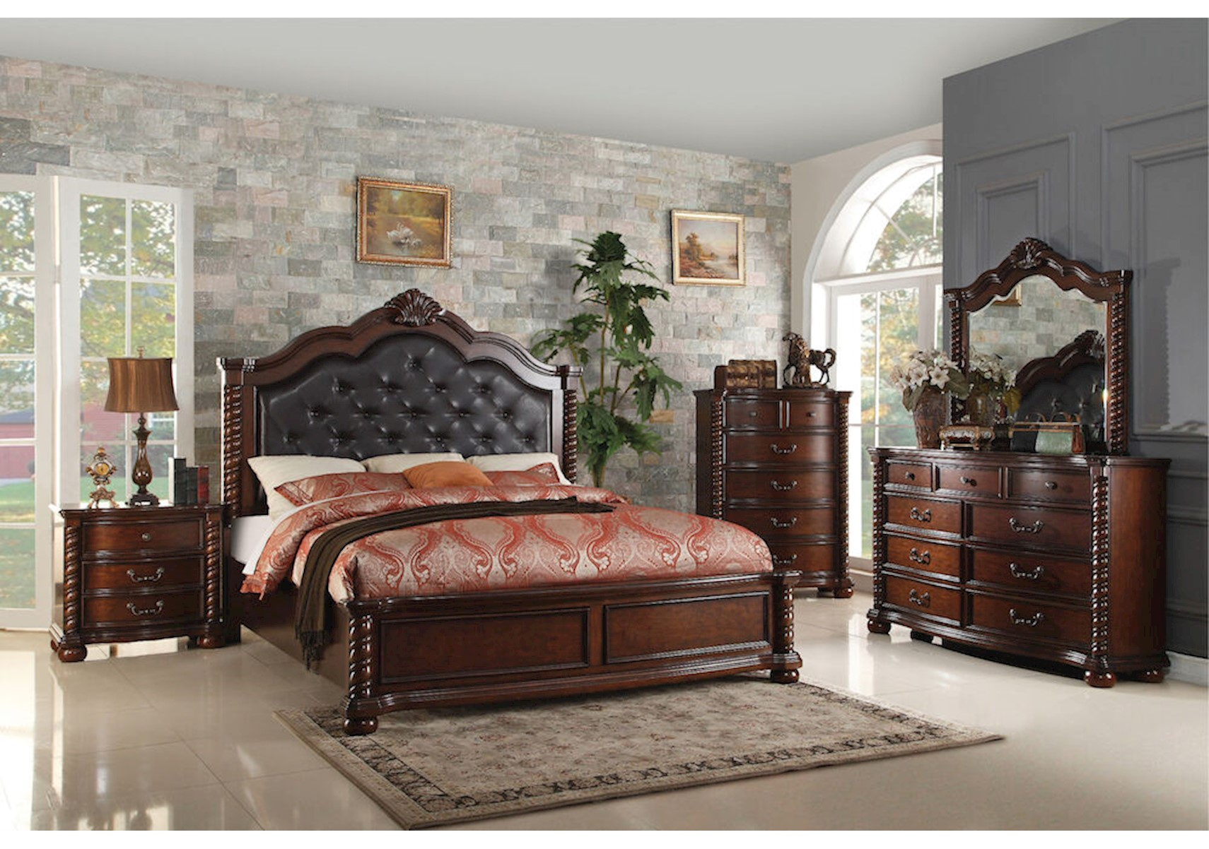 Lacks Montarosa 4 Pc Queen Bedroom Set