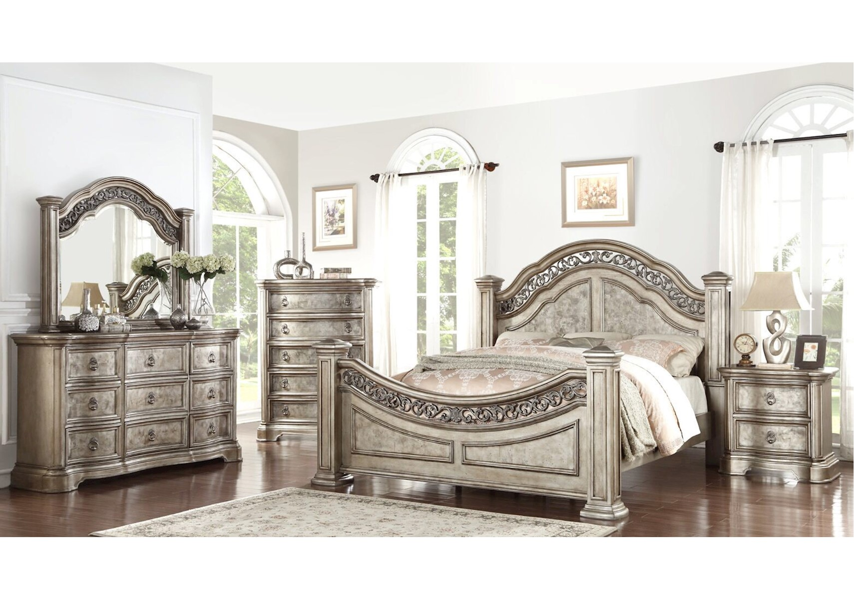 Lacks | Victoria 4 Pc King Bedroom Set