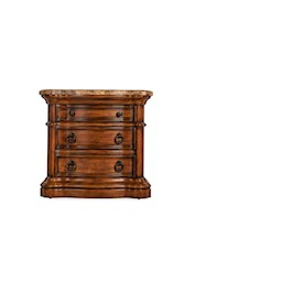 Perfect San Mateo Marble Top 3 Drawer Nightstand