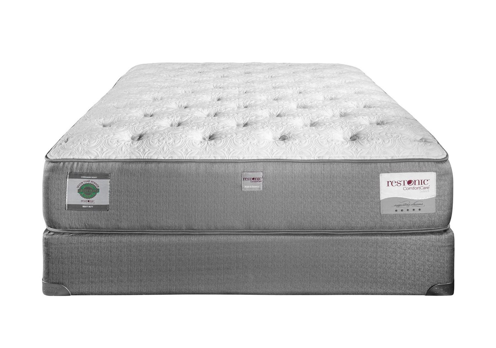 Restonic Comfortcare Select Kingsbury Luxury Firm Queen Mattress Set