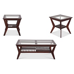 Lacks Norway 3 Pc Coffee Table Set