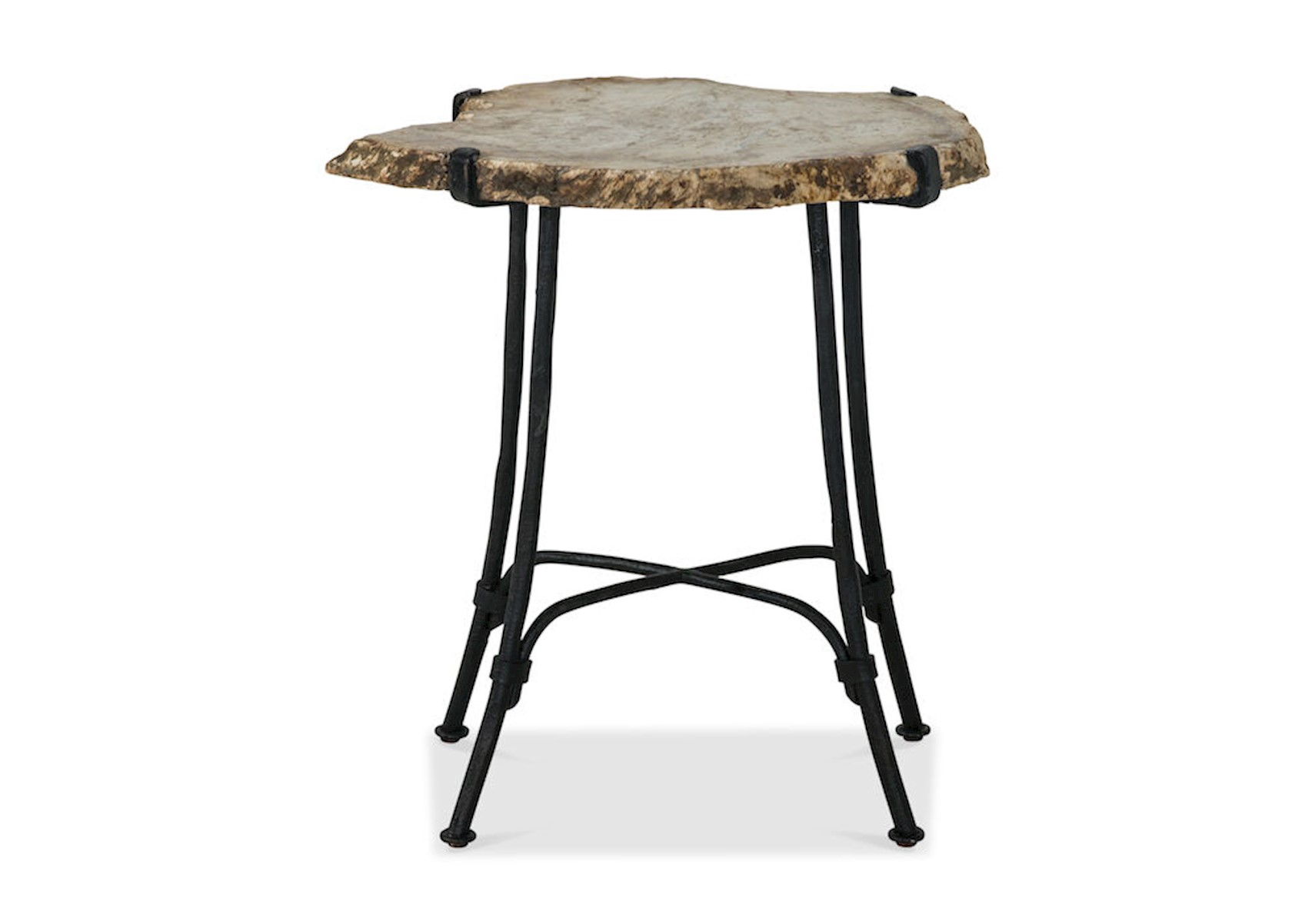 Petrified Wood Side Table