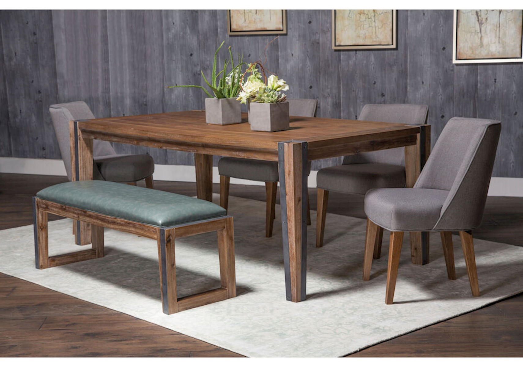 Brooklyn Walk 6 Pc Dining Room Set