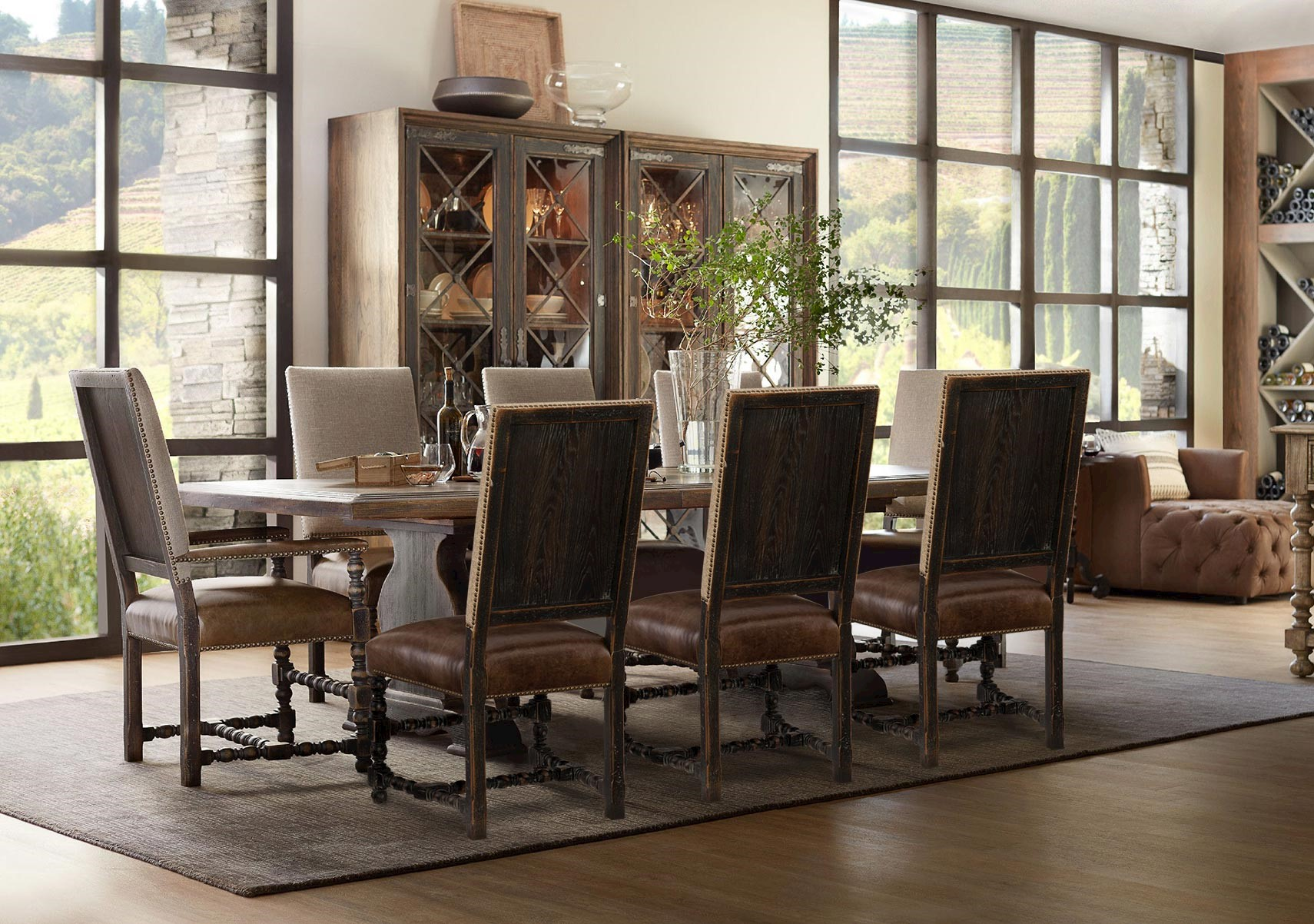 Lacks Hill Country 9 Pc Dining Set, Hill Country Dining Room Furniture