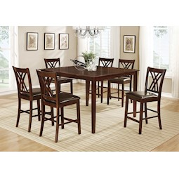 Cadiz 7 Pc Counter Height Dining Set