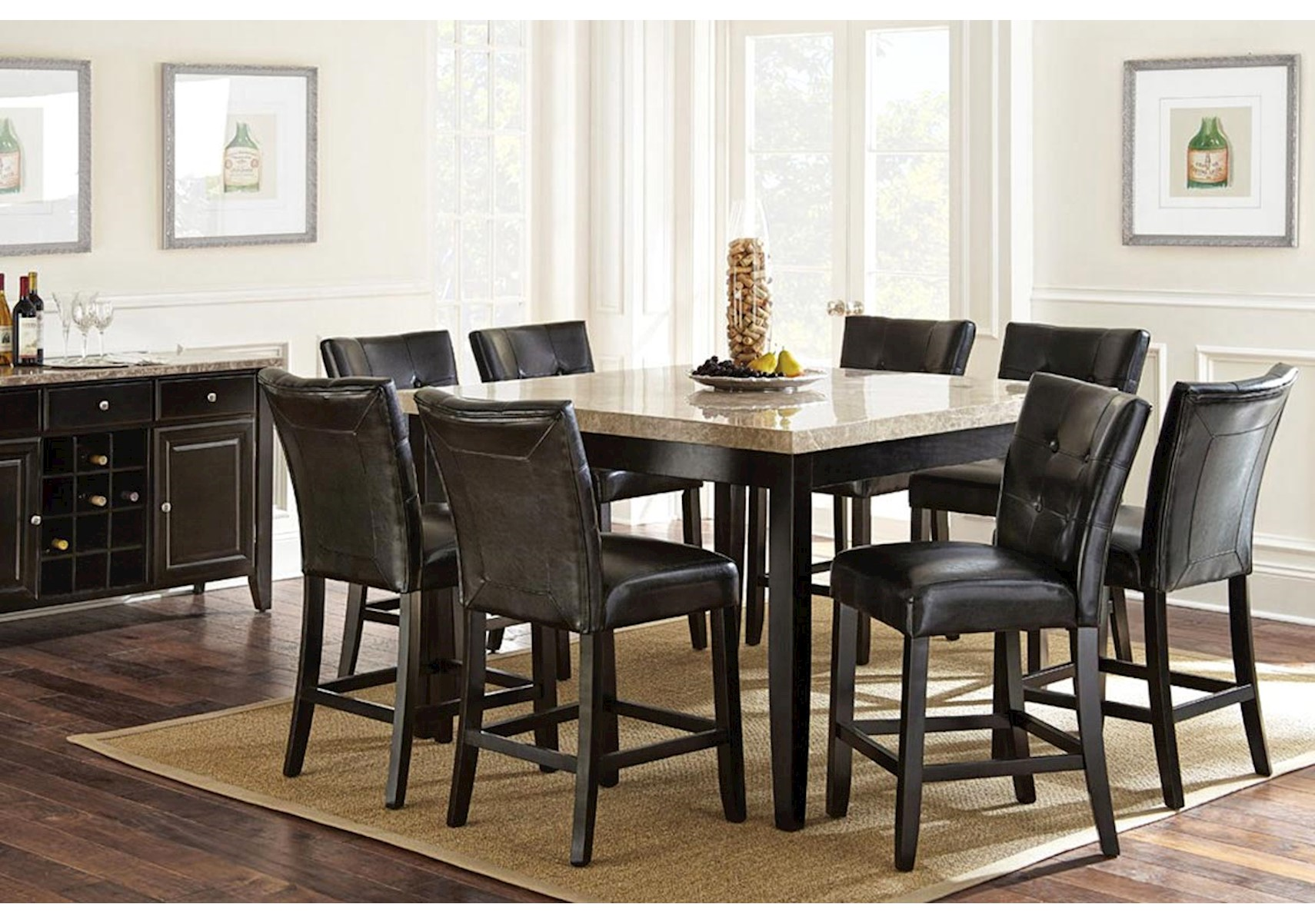 Lacks | Monarch 7-Pc Counter Height Dining Set