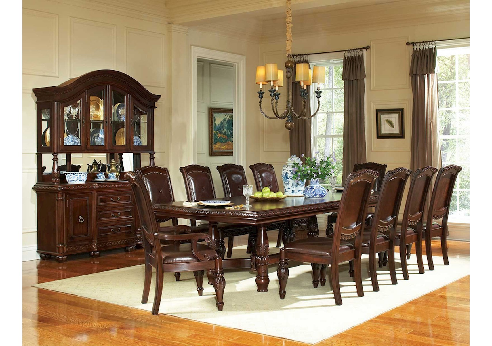 Antoinette 9 Pc Dining Set