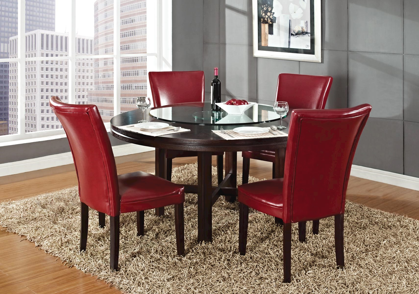 Exceptionnel Hartford 6 Pc Red Dining Set